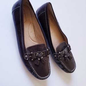 Bass Dark Brown Loafers Size 11